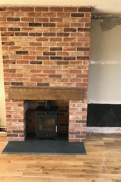 Gas fire installed in Walsall