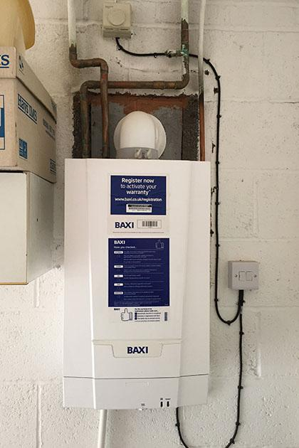 Gas boiler in Walsall