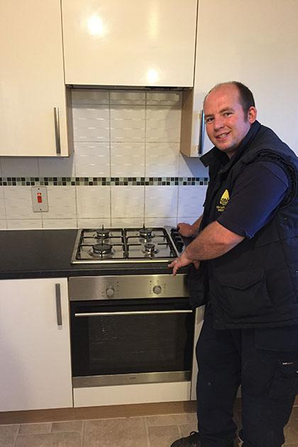 Gas cooker in Walsall with our lead engineer Robert!
