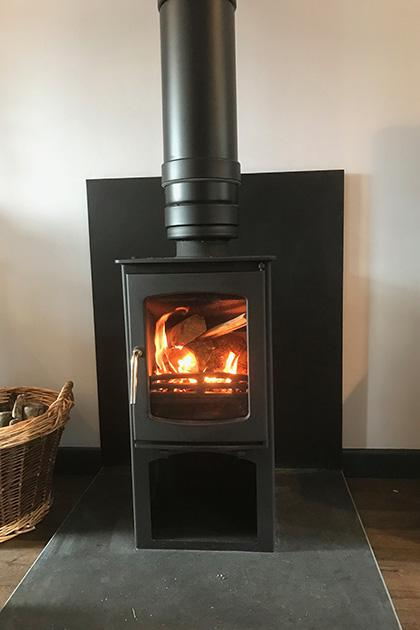 Wood burning stove fitted in Walsall