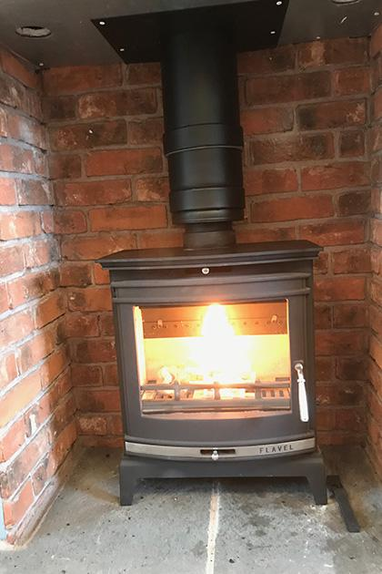 Wood burning stove installed in Walsall