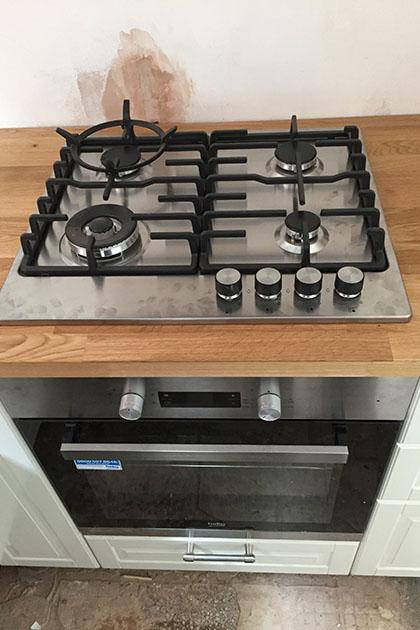 Gas cooker installation in Walsall